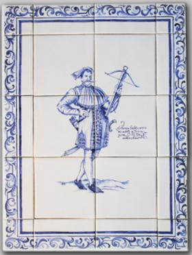Friesischer Häuptling, Unikat, ca 39x 52 cm